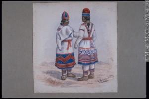 Henry Richard S. Bunnett. 1885-1889, 19e siècle. Aquarelle sur papier. 11.6 x 10.8 cm. Don de Miss Alice M. S. Lighthall. M984.213.3 © Musée McCord