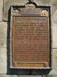 Panneau descriptif, Monument de l'astrolabe, Cobden Ont., 2012