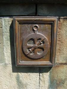 Gravure d'un astrolabe, Monument de l'astrolabe, Cobden Ont., 2012