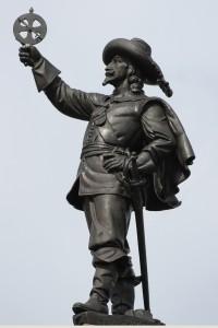 Photographie de la statue de Champlain à proximité du Musée des beaux-arts du Canada