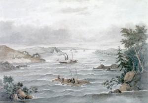 Rapides Long Sault, sur le fleuve Saint-Laurent. 1849