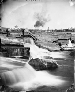 At the Chaudiere Falls, Jan. 1878