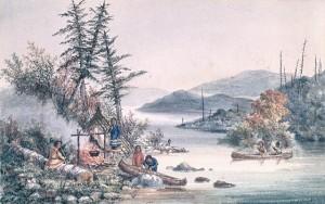 Lac aux Allumettes sur la rivière des Outaouais, en Ontario. 1870